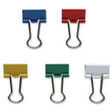 Sparco Assorted Color Binder Clips