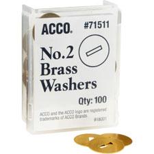 ACCO Solid Brass Round Head Fastener Washers