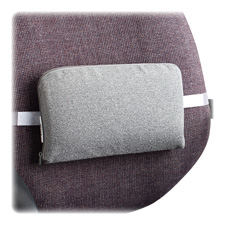 "Lumbar support cushion, 12-1/2""x2-1/2""x7-1/2"", neutral gray, sold as 1 each"