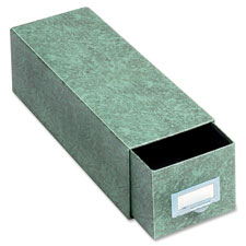 "Index card drawer file, 1300 cap., 14-1/2"" deep, 6""x9"", gn, sold as 1 each"