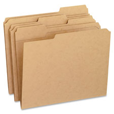 Esselte 1/3 Cut Recycled Kraft File Folders
