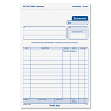 "Statement forms,2-part,carbonless,5-1/2""x8-1/2"",50 sets/pk, sold as 1 package, 50 set per package"