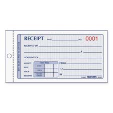 Rediform Numbered Carbonless Rent Receipt Books