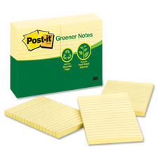 3M Post-it 100% Recycled Lined Notes