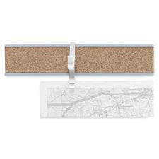 """Map rail, 1""""x8', satin aluminum, sold as 1 each"""