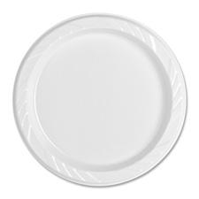 Genuine Joe Reusable/Disposable Plastic Plates