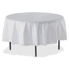 "SPR Product By Genuine Joe - Round Plaic Tablecover Fits 48"" or 60"" Dia 6 White at Sears.com"