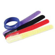 "Cable ties, 7""x3/4""x1/16"", 10/pk, assorted, sold as 1 package"