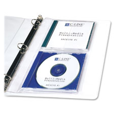 C-Line CD/DVD Jewel Case Binder Storage Pages