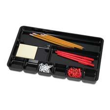 "Drawer organizer tray, 9 comp., 14""wx9-3/8""dx1-1/4""h, black, sold as 1 each, 3 each per each"