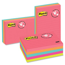 3M Post-it Neon Fusion Lined Notes