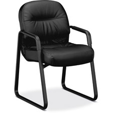 "Sled base guest chair, 23-1/4""x27-3/4""x36"", charcoal, sold as 1 each"