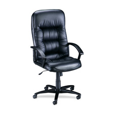 """Executive hi-back chair,25-3/4""""x29-3/4""""x45-1/2""""-49"""",bk lthr, sold as 1 each"""