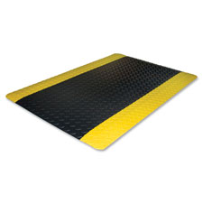 Anti-fatigue floor mat,beveled edge,2'x3',black/yellow, sold as 1 each, 50 each per each