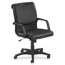 Lorell Managerial Mid-Back Leather Chair
