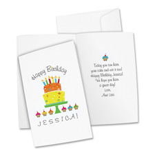 Avery Personal Creation White Half-Fold Cards
