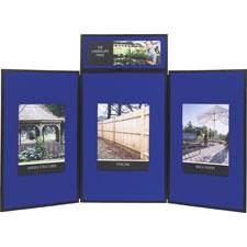 Quartet 3-Panel Tabletop Display