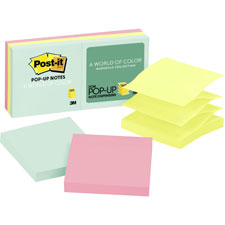 3M Post-it Pop-up Pastel Colors Notes