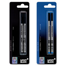 Rollerball pen refill, fine pt, 2/pk, black, sold as 1 package, 2 each per package