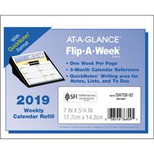 At-A-Glance Flip-A-Week Desk Calendar Refill