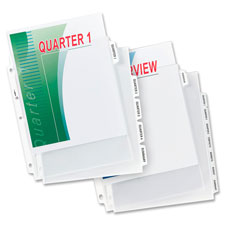 Avery Index Maker Clear Pocket View Dividers