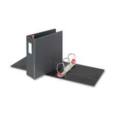 "Locking d-ring binder, w/labelholder, 4"" cap, black, sold as 1 each"
