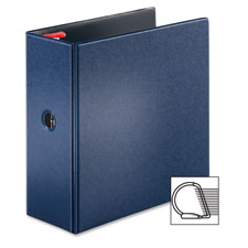 "Locking d-ring binder, 4"" cap, 11""x8-1/2"", dark blue, sold as 1 each"