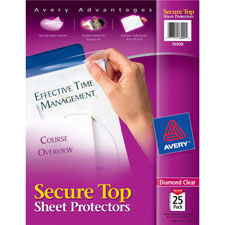 Avery Secure Top-Load Sheet Protectors