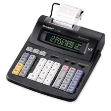 Sharp 12-Digit 2-Color Print/Display Calculator