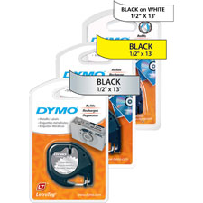 "SPR Product By Dymo Corporation - LetraTag Tape 1/2""x13' Plaic Yellow at Sears.com"