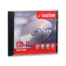 Imation 80-Minute CD-R w/ Jewel Case