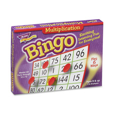 "Multiplication bingo, 5""x5"", 36 cards, 700 chips, sold as 1 each"