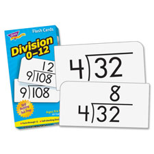 "SPR Product By Trend Enterprises - Math Flash Cards Division 0 To 12 3""x5-7/8"" at Sears.com"