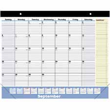 At-A-Glance 16-Month Quicknotes Desk Pad Calendar
