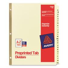 Avery A-Z Preprinted Laminated Tab Dividers