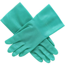 "Nitrile glove, unsupported, size 9, 12""l, 15 mil , gn, sold as 1 pair"