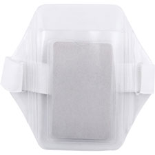 "Arm badge holder, vertical, pouch 2-1/2""x3-1/2"", clear, sold as 1 each"