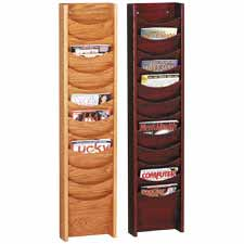 Buddy 12-Pocket Oak Literature Display Racks