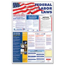 """Federal labor law poster, 24""""x36"""", multi, sold as 1 each"""