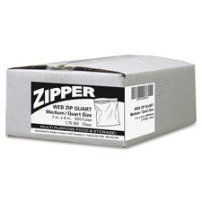 Webster Zipper Quart Size Freezer Bags