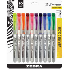 Zebra Fluorescent Liquid Ink Highlighters