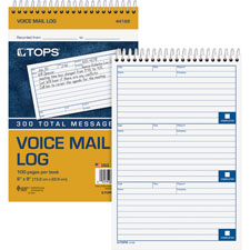 "Spiral voice message log, 6""x9"", 50 sheets/bk, white, sold as 1 each"