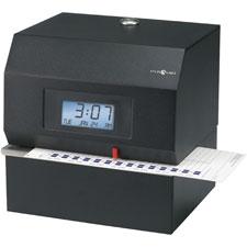 """Heavy-duty time clock, electronic, steel, 8""""x7""""x8"""", black, sold as 1 each"""