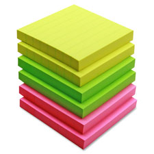 Sparco Premium Lined Adhesive Note Pads