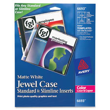 Avery Color Laser CD/DVD Jewel Case Inserts