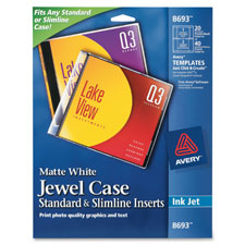 Avery Matte CD/DVD Inkjet Jewel Case Inserts