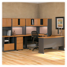 Bush Series A Collection Nat. Cherry Office Suite