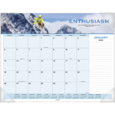 At-A-Glance Panoramic Motivational Desk Pad