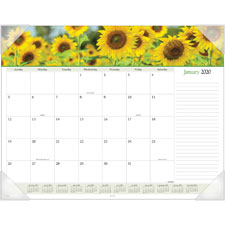 At-A-Glance 1PPM Panoramic Floral Desk Pad