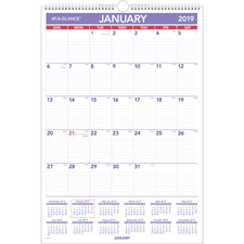 At-A-Glance Write-on Laminated Mthy Wall Calendar
